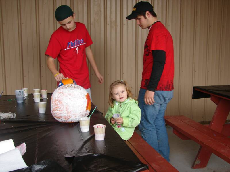 Kids of all ages love painting pumpkins